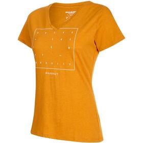 Mammut Zephira T-paita Naiset, golden melange PRT2